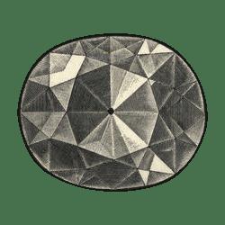 Так стал выглядеть алмаз Кохинор после 1852 года