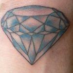 Татуировка алмаза на теле
