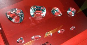 Стеклянные копии девяти бриллиантов Куллинан