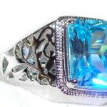 Перстень с аквамарином будет хорошим талисманом для мужчин знака Весы