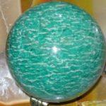 Каменный шар из амазонита
