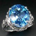 Голубой сапфир, кольцо