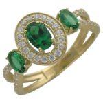 Золотое кольцо с камнем Алпанит