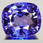 Танзанит - цоизит синего цвета