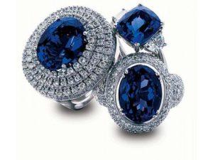 Украшения из танзанита - синего цоизита, кольца и перстни