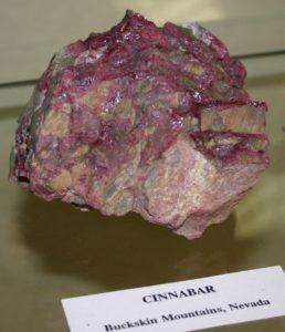 Образец с минералом Киноварь (Cinnabar)