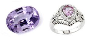Камень и кольцо с таффеитом