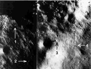 Движущиеся камни на луне