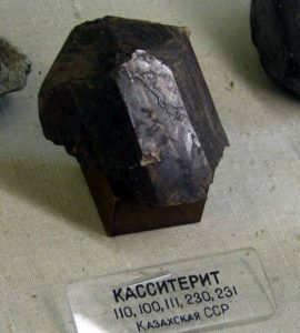 В России добыча касситерита в промышленных объемах ведется на Забайкалье, в Карелии, Приморском и Хабаровском крае