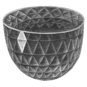 Алмаз Великий Могол, иллюстрация из энциклопедии «Nordisk familjebok»