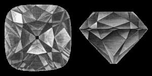 Алмаз Регента. Иллюстрация из энциклопедии «Nordisk familjebok»
