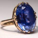 Кольцо с камнем сапфир